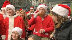 New York's SantaCon Stresses Nice Over Naughty