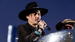 At Glastonbury, Depp Asks About Assassinating the President