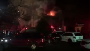 RAW: Video Shows Oakland Warehouse Building Engulfed in Flames