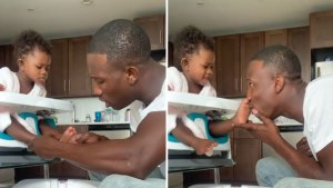 Adorable Video Shows Firefighter Giving Toddler Pedicure
