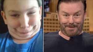 """WATCH: """"Funny Face Off"""" With Ricky Gervais"""