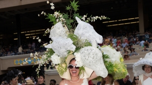 Self-Proclaimed 'Weed Girl' Wins Del Mar Hat Contest