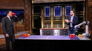 Watch: Jimmy Fallon vs. Beer Pong Robot