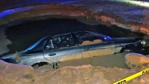 Alleged Drunk Nearly Drowns in Sinkhole After Hydrant Cras