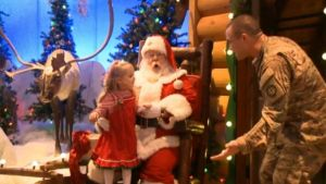 Santa Brings 3-Year-Old Girl's Dad Home From Afghanistan