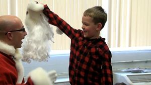 Military Dad Surprises Son, 6, at School in Santa Outfit