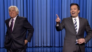 Jay Leno Tags in for Jimmy Fallon's 'Tonight' Monologue