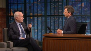 'Late Night': McCain Approves of Trump's Strike on Syria
