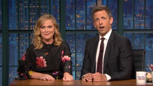 'Late Night': Poehler, Meyers Play a Round of 'Really?!'