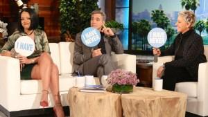 'Ellen': Rihanna, Clooney Play 'Never Have I Ever'