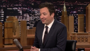 Jimmy Fallon Talks Golden Globes Gig With Natalie Pasquarella