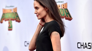 Angelina Buys Giant Teddy Bear From Kids on Side of Road