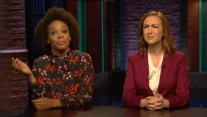 'Late Night': Point, Counterpoint for Caravan, Midterm Elections