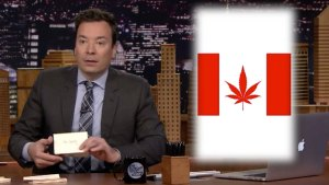 'Tonight Show' Thank You Notes, Canada's New Flag