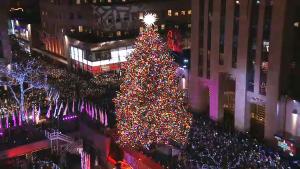 Rockefeller Center Christmas Tree Lights Up for 2018 Season