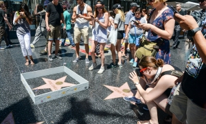 Artist Builds Wall Around Donald Trump's Walk of Fame Star