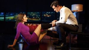 Review: Turbulent Thriller 'The Layover' at Second Stage<br />