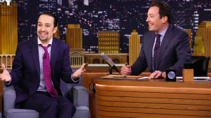"Jimmy Fallon Channels David Bowie and More for ""Hamilton"" Song"