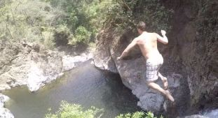 WATCH: Tom Brady Jumps Off a Giant Cliff