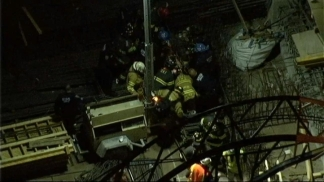 Rescue at Crane Accident on West Side