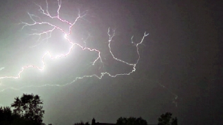 Lightning Crackles in Summer Storm