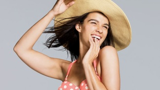 Plus-Size Model Crystal Renn Models Swimsuits in New J.Crew Catalog