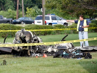 Small Plane Crashes Near Teterboro