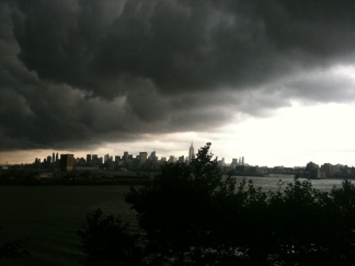 Storm Clouds Roll Into NYC