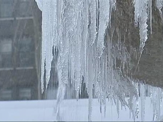 WATCH: Icicle-Bedecked Bryant Park Fountain Does Business as Usual