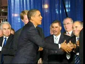 Obama and Paterson Shake Hands After Political Flap