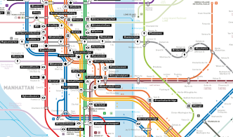 Most Popular Instagram Hashtags by Subway Stop, Mapped