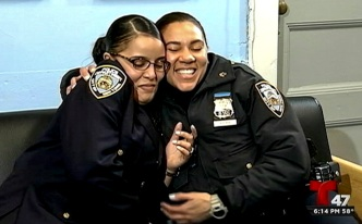 Long-Lost Police Officer Sisters Reunited at Bronx Precinct
