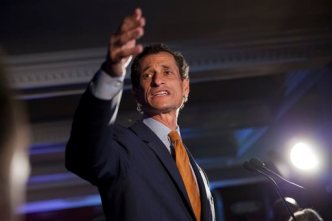Weiner Ends Primary Bid Like It Began: Defiant
