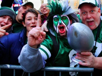 J-E-T-S! NYC Goes Wild for Gang Green in Times Square