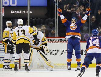 Lee Scores With 27 Seconds Left, Islanders Beat Penguins 5-3