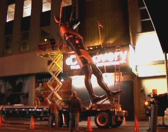 Times Square Welcomes Egyptian God