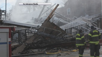 NJ Building Collapses in Blaze