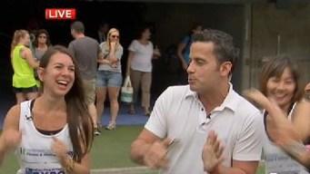 Raphael Miranda Tries Zumba at Expo