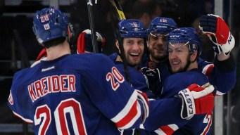 Three Goals in Third Lift Rangers Past Devils