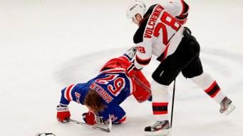 Devils Beat Rangers 3-2 to Tie Series