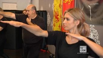 Audrina Learns Stunt Fighting