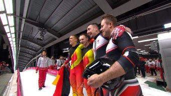 Relive the Canada-Germany Tie in 2-Man Bobsled