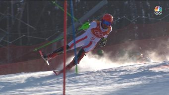 Marcel Hirscher Loses Control in Opening Slalom Run