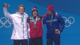 Medal Ceremony: Sebastien Toutant Collects Big Air Gold