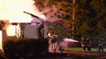 4 Escape as Country Club Home Goes up in Flames