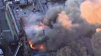 4 Hurt As Massive Blaze Rips Through NYC Building