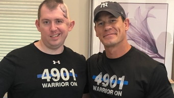 John Cena Surprises Police Officer Who Was Shot in Head