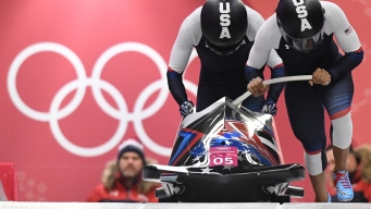 Women's Bobsled: Americans in 2nd Place After 2 Heats