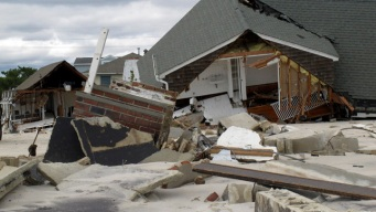 Rain Delays Demolition of Sandy-Damaged Homes