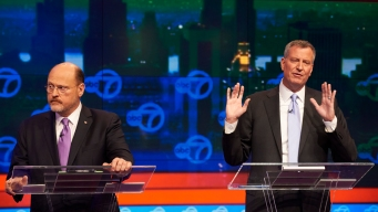 De Blasio, Lhota Meet in NYC Mayoral Debate